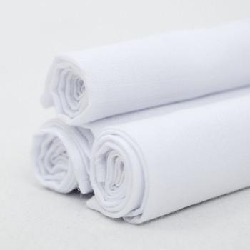Men's Cotton Plain Handkerchiefs 6pcs Set H006