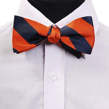 FBS4703 Men/'s chassé-croisé soie tissée Freestyle Bow Tie