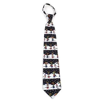 Poly Zipper Christmas Tie PZX4601-BK