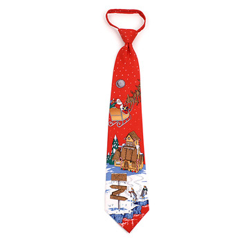 Poly Zipper Christmas Tie PZX4603-RD