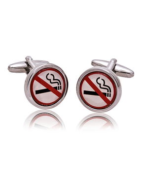 No Smoking Novelty Cufflinks NCL1751