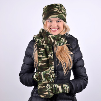 Women's Fleece Camo Winter Set WNTSET1000