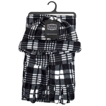6pc Pack Women's Plaid Printed Fleece Winter Set WNTSET1002