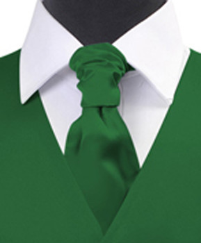 Green Poly Solid Satin Cravat FC1701-5