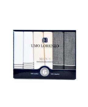 Boxed Fancy 6pc. Men's Cotton Handkerchiefs FH006