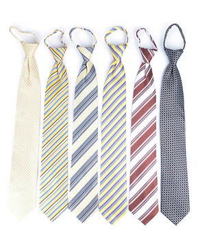 6 Pack Poly Woven Mixed Zipper Ties - Yellow PWZYW