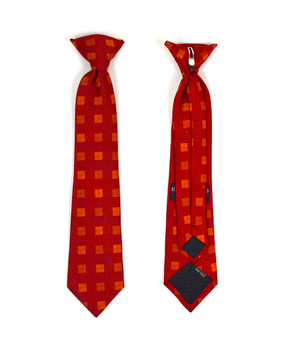Boy's Poly Woven Clip On Tie BC2504-RD