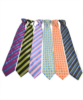 6 Pack Poly Woven Mixed Zipper Ties - F1