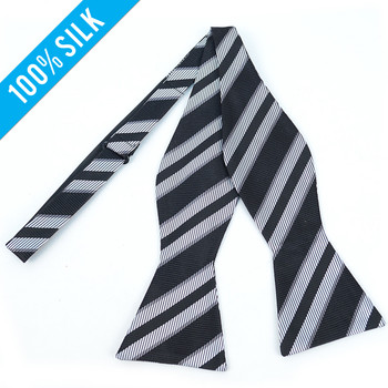 100% Silk Woven Freestyle Bow Tie FBS3703