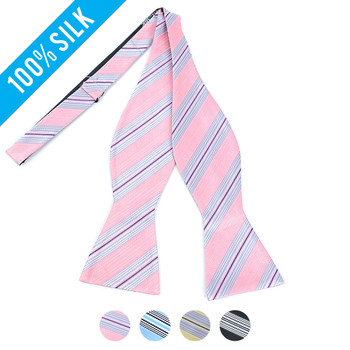 100% Silk Woven Freestyle Bow Tie FBS3704