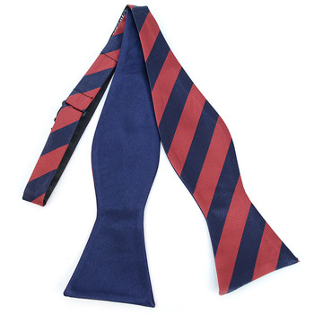 100% Silk Woven Freestyle and Reversible Bow Tie FRBS1020