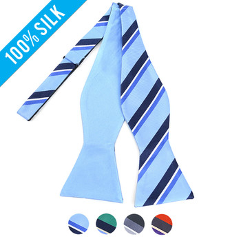 100% Silk Woven Freestyle and Reversible Bow Tie FRBS1050