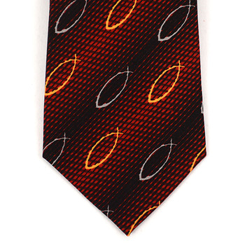 """Jesus Fish"" Boy's Novelty Tie BN1702"