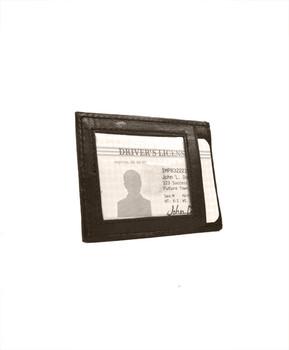 Leather Money Clip MC46BR