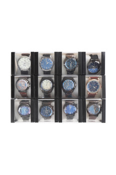 12pc Assorted Men's Casual Boxed Watches - MWT2200