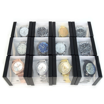 12pc Assorted Men's Dressy Boxed Watches