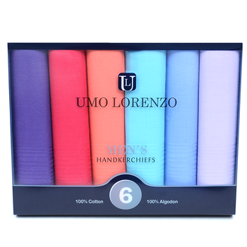 Men's 6pc. Boxed Fancy Cotton Handkerchiefs MSCB1556