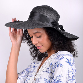 "Women's 5"" Brim Bow Floppy Hat LFH1116"