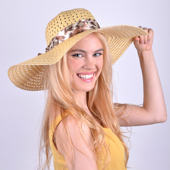 "Women's 5"" Brim Bow Floppy Hat LFH1118"