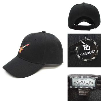 Guitar Black Embroidered Baseball Cap (BCC121415GR)