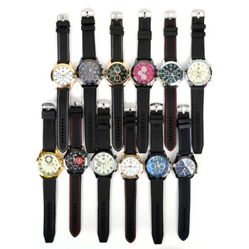 12pc Assorted Men's Casual Rubber Band Boxed Watches - MWT2129