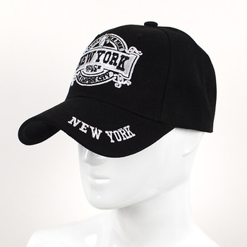 New York Black 3D Embroidered Baseball Cap, Hat EBC10285