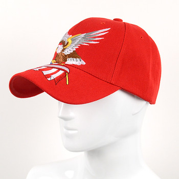 Eagle American Flag Red 3D Embroidered Baseball Cap, Hat EBC10302