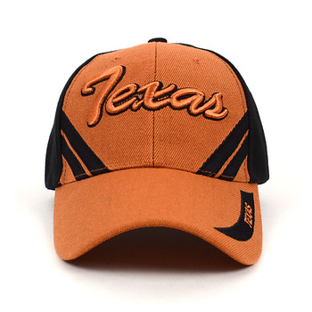 Texas Brown & Black 3D Embroidered Baseball Cap, Hat EBC10304