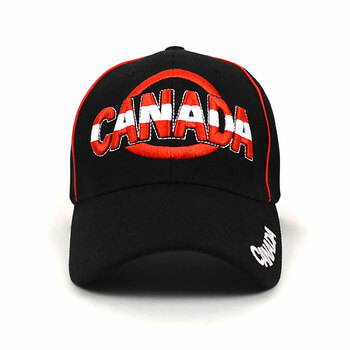 Canada Black 3D Embroidered Baseball Cap, Hat EBC10308