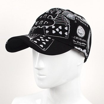 $ Money Black & White Flex-Fit 3D Embroidered Baseball Cap, Hat EBC10310