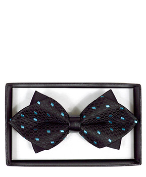 Diamond Tip Banded Bow Tie DBB3030-10