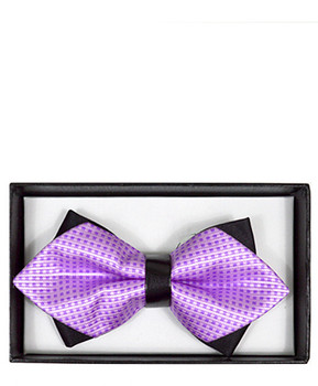 Diamond Tip Banded Bow Tie DBB3030-32