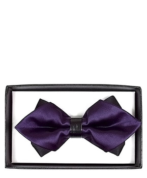 Diamond Tip Banded Bow Tie DBB3030-37