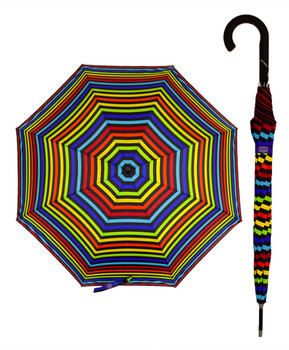 6pc Long Stick Windproof Umbrella UM3005
