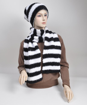 Women's Acrylic Scarf & Hat Set HY6