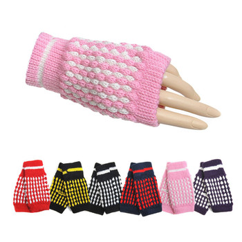 30pc Random Assorted Women's Knit Fingerless Gloves GL1302-30ASST