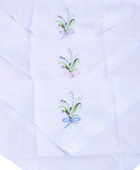 Ladies Embroidered Cotton Handkerchief 6pc Box Set WEH6602