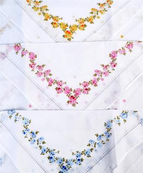 Boxed Fancy 6pc. Ladies Cotton Handkerchiefs WFH6010