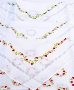 Boxed Fancy 6pc. Ladies Cotton Handkerchiefs WFH6030