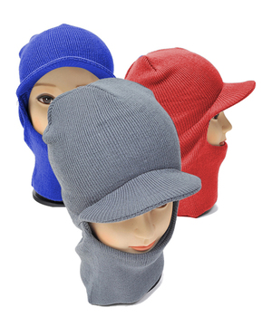 12pc Pack Knit Ski Mask with Visor Cap LH1002