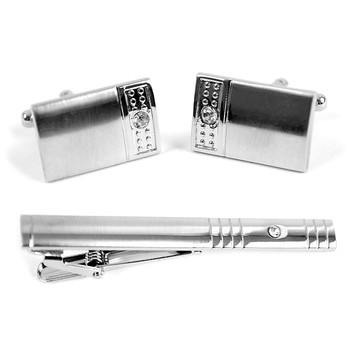Cufflink and Tie Bar Set CTB676