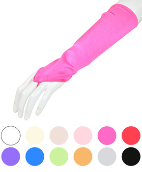 Satin Fingerless Below Elbow Glove WF810-8