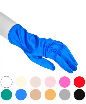 Satin Wrist Length Gloves S2BL