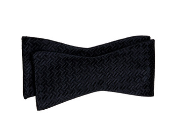 Silk Fancy Black Freestyle Bow Tie FBS1702