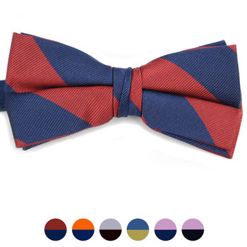 Silk College Banded Bow Tie CBB3601