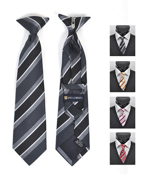 6pc Pre-Pack Boy's Microfiber Woven Clip On Tie MPBC2000