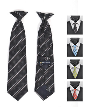 6pc Pre-Pack Boy's Microfiber Woven Clip On Tie MPBC2001
