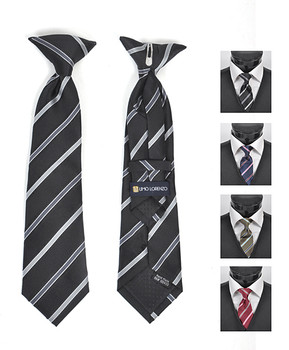 6pc Pre-Pack Boy's Microfiber Woven Clip On Tie MPBC2003