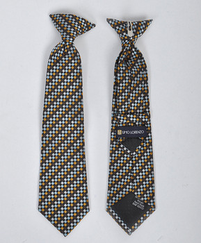 Boy's Microfiber Woven Clip On Tie MPBC2005