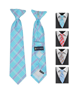 6pc Pre-Pack Boy's Microfiber Woven Clip On Tie MPBC4852